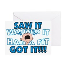 Spoiled Baby Greeting Cards (Pk of 10)