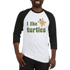 Cute I like turtles Baseball Jersey