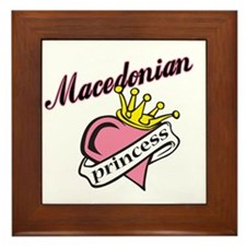 Macedonian Princess Framed Tile
