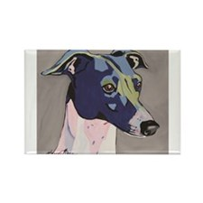 Cute Greyhound dog art Rectangle Magnet