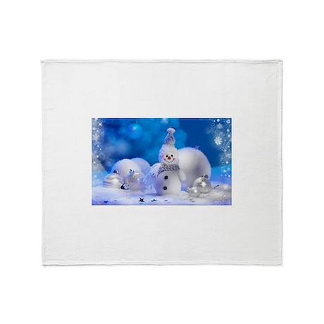 Snowman Throw Blanket By Admin Cp114207546