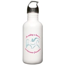 In Riding A Horse, We Borrow Freedom Water Bottle