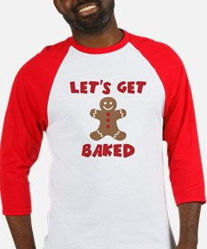 Let's Get Baked Funny Christmas Baseball Jersey
