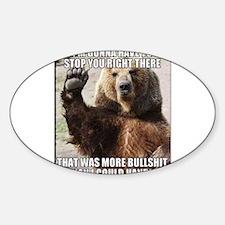 humorous bear Decal