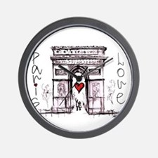 Paris with love Wall Clock