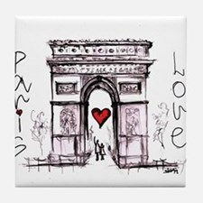 Paris with love Tile Coaster
