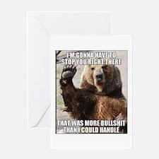 humorous bear Greeting Cards