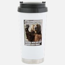 humorous bear Travel Mug