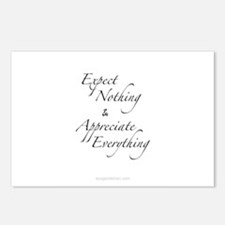 Expect Nothing, Appreciat Postcards (Package of 8)