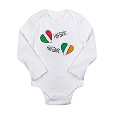 Cute Garlic and gaelic Long Sleeve Infant Bodysuit