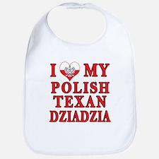 Polish Texan Dziadzia Bib