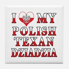 Polish Texan Dziadzia Tile Coaster