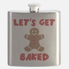 Let's Get Baked Funny Christmas Flask