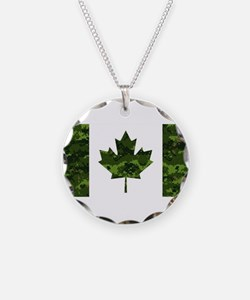 Cute Canadian army Necklace
