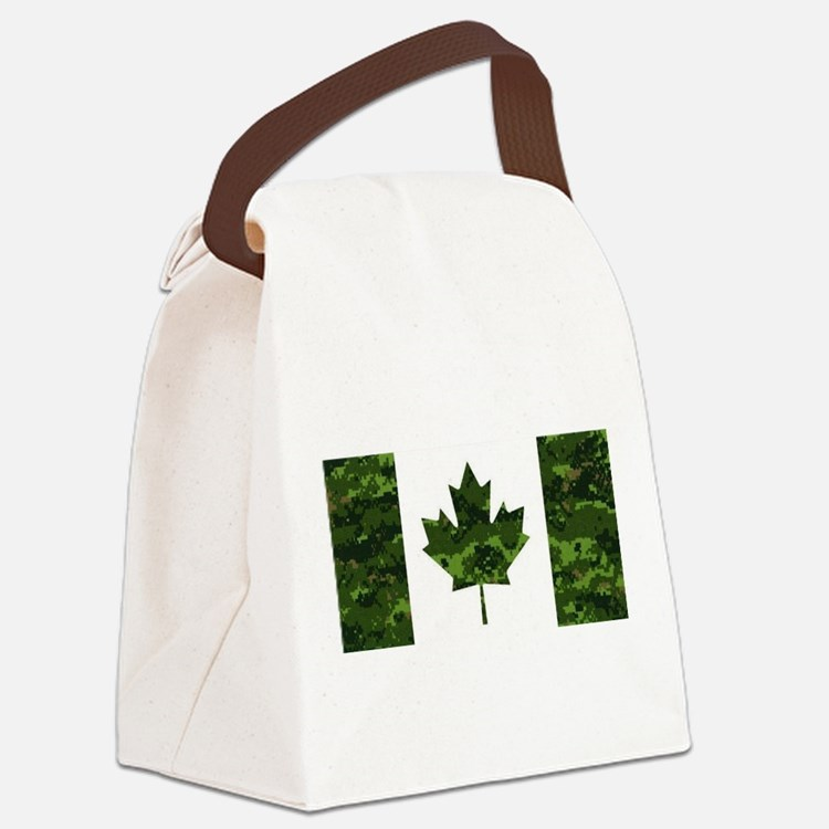 Cute Canadian military Canvas Lunch Bag
