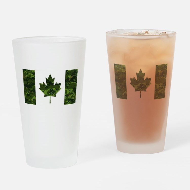 Cute Canadian military Drinking Glass