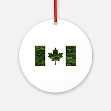Cute Canada Round Ornament
