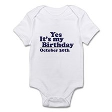 October 30th Birthday Infant Bodysuit