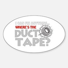 Duct Tape Oval Stickers