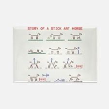 Wild horse stick art story. Rectangle Magnet