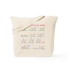 Wild horse stick art story. Tote Bag