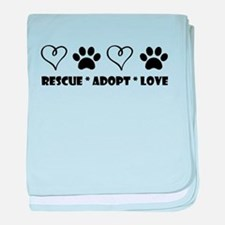 Funny Dogs and cats baby blanket