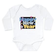 Cute New year 2010 Long Sleeve Infant Bodysuit