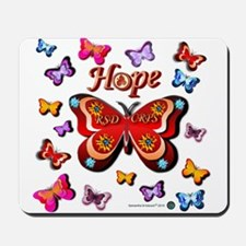 CRPS Lava Bloom Butterfly HOPE Mousepad