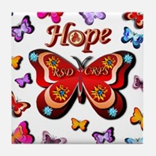CRPS Lava Bloom Butterfly HOPE Tile Coaster
