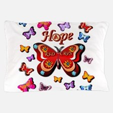 CRPS Lava Bloom Butterfly HOPE Pillow Case