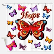 CRPS Lava Bloom Butterfly HOPE Shower Curtain