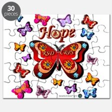 CRPS Lava Bloom Butterfly HOPE Puzzle