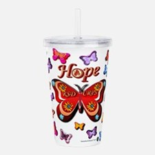 CRPS Lava Bloom Butter Acrylic Double-wall Tumbler
