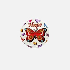 CRPS Lava Bloom Butterfly HOPE Mini Button