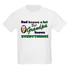 Grandpa Knows Everything Kids T-Shirt