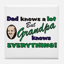 Grandpa Knows Everything Tile Coaster
