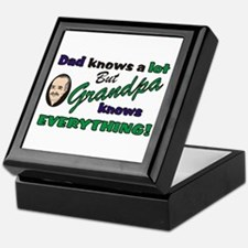 Grandpa Knows Everything Keepsake Box