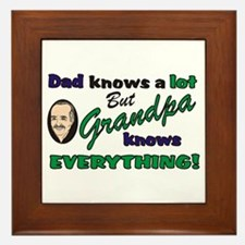 Grandpa Knows Everything Framed Tile