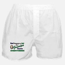 Grandpa Knows Everything Boxer Shorts