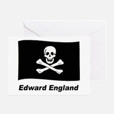 Pirate Flag - Edward England Greeting Card