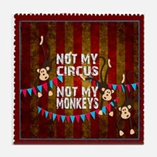 Not My Circus Monkeys Stamp Tile Coaster