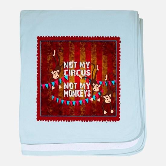 Not My Circus Monkeys Stamp baby blanket