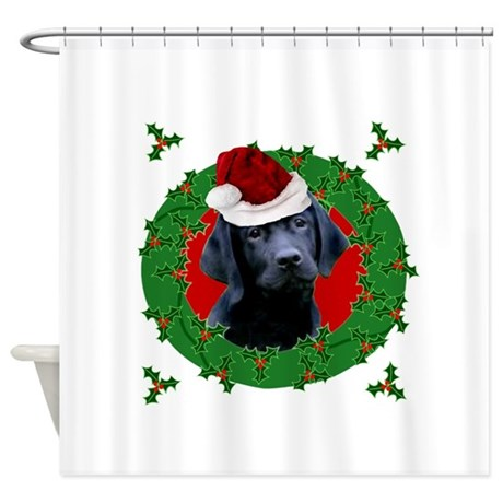 Christmas Labrador Retriever Shower Curtain