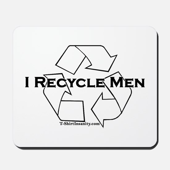 I recycle men Mousepad