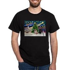 X Mas Magic & Pug Pair T-Shirt