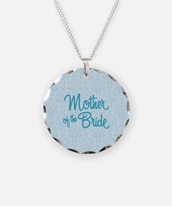 Mother of the Bride Necklace Circle Charm