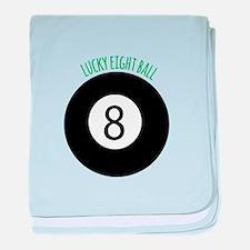 Lucky Eight Ball baby blanket