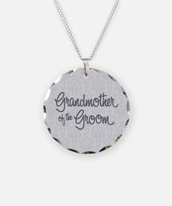 Grandma of the Groom Necklace Circle Charm