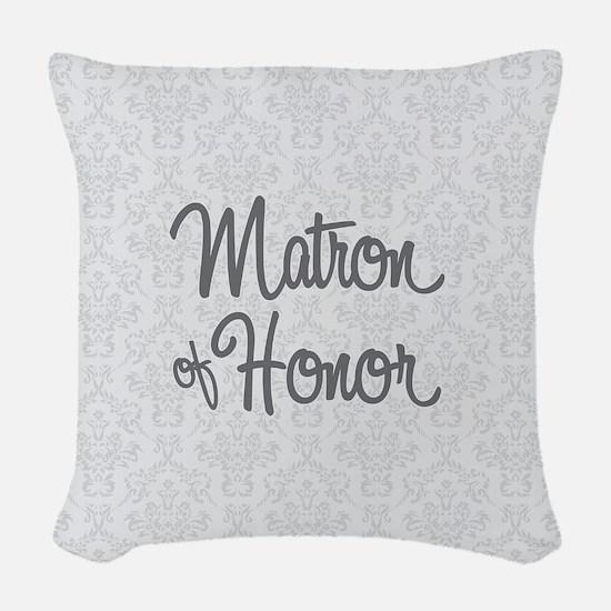Matron of Honor Woven Throw Pillow
