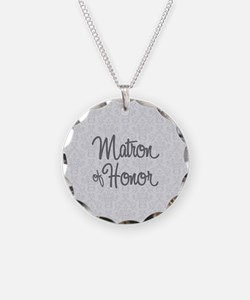 Matron of Honor Necklace Circle Charm